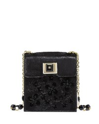 Andrew Gn Calf Hair Chain Shoulder Bag Red