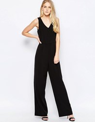 Only Mia Flared Leg Jumpsuit Black