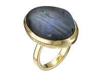 Cole Haan Semi Precious Oversized Ring Gold Labradorite Ring