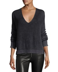 Rag And Bone Taylor Washed V Neck Sweater Black