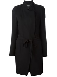 Ann Demeulemeester Pleated Back Coat Black