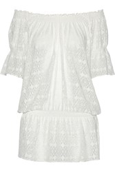 Melissa Odabash Nicola Stretch Lace Coverup White