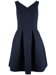 Closet V Neck Skater Dress Navy
