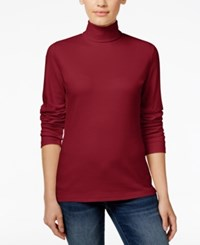 Karen Scott Long Sleeve Turtleneck Only At Macy's New Red Amore