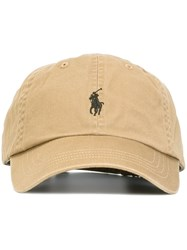 Polo Ralph Lauren Embroidered Logo Cap Nude And Neutrals