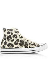 Converse Chuck Taylor All Star Hi Top Animal Print Trainers Monochrome