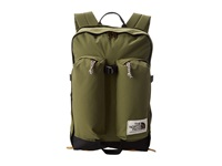 The North Face Crevasse Burnt Olive Green Tnf Black Backpack Bags