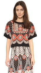 Temperley London Makani Shirt Black Tobacco
