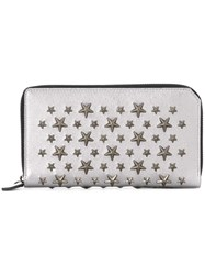 Jimmy Choo 'Carnaby' Wallet Metallic