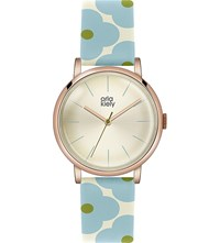 Orla Kiely Patricia Leather Watch Champagne
