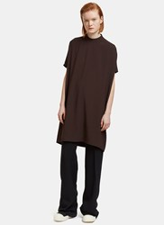 Rick Owens Oversized Island Tunic Top Brown