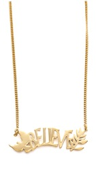 Marc By Marc Jacobs Believe Name Plate Pendant Neckalce Oro