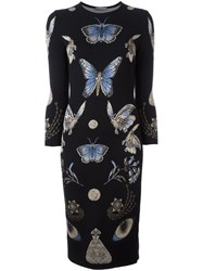 Alexander Mcqueen 'Obsession' Pencil Dress Black