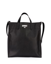 Givenchy Men's Logo Print Leather Tote Bag Black