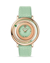 Versace Venus Rose Gold Pvd Watch With Light Green Guilloche Dial 39Mm