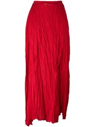 Forte Forte Pleated Skirt Red
