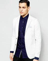Vito Textured Blazer In Slim Fit White