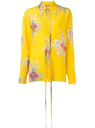 N 21 No21 Floral Print Shirt Yellow Orange