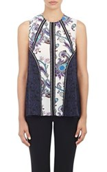 Mary Katrantzou Women's Chiffon Sleeveless Top White