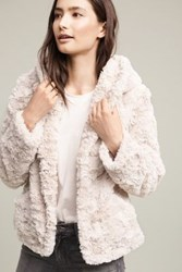 Anthropologie Aufeis Faux Fur Jacket Ivory