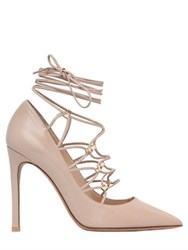 Valentino 100Mm Lace Up Leather Gladiator Pumps