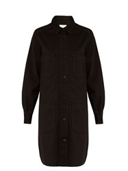 Stella Mccartney Button Down Denim Dress Black