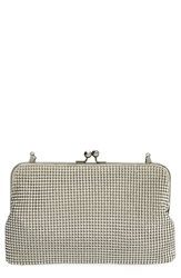 Whiting And Davis Mesh Clutch Pewter