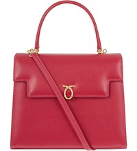 Launer Traviata Leather Tote Barbie Pink