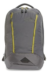 The North Face Men's 'Microbyte' Backpack Grey Fusebox Grey Lemongrass Green