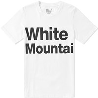 White Mountaineering Logo Print Tee White