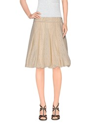 Brian Dales Skirts Knee Length Skirts Women Ivory
