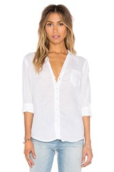 Cp Shades Sloane Solid Linen Shirt White