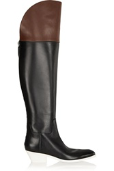 Alexander Wang Lovanni Two Tone Leather Over The Knee Boots