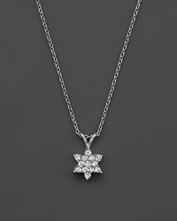 Bloomingdale's Diamond Star Of David Pendant Necklace In 14K White Gold .25 Ct. T.W.