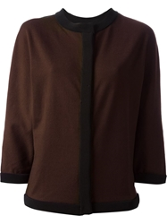 Emanuel Ungaro Trim Cardigan Brown