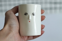 Eyes Without A Face Wonky Porcelain Tumbler 3D By Kinskashop