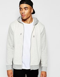 New Look Hoodie With Herringbone Detail Cream