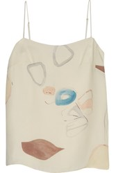Adam By Adam Lippes Printed Silk Camisole Ivory