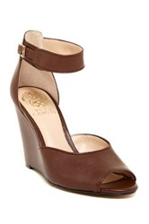 Vince Camuto Marine Ankle Strap Wedge Sandal Brown