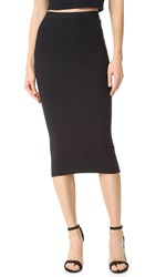 Alice Olivia Holley Zip Ottoman Skirt Black
