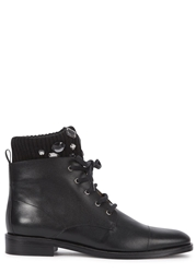 Markus Lupfer Black Crystal Cuff Leather Boots