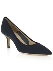 Daniel Garland Mesh Low Heel Court Shoes Navy