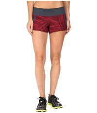 Brooks Chaser 3 Shorts Sangria Cosmo Women's Shorts Red