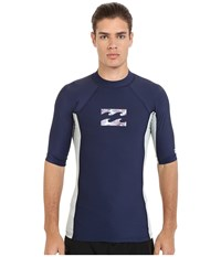 Billabong Iconic Short Sleeve Rashguard Navy Men's Swimwear