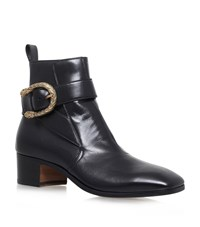 Gucci New Zealand Buckle Boots Male Black