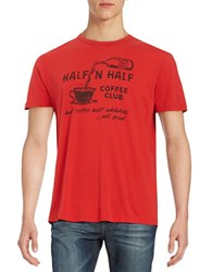 Lucky Brand Coffee Graphic Tee Red