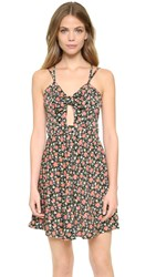 Glamorous Vintage Floral Mini Dress Pink Green Floral