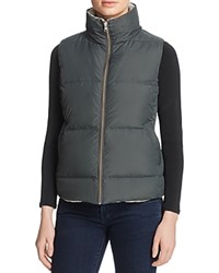 Soft Joie Hendrick Quilted Vest Dark Ivory Heather Grey
