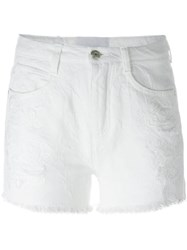 Ermanno Scervino Frayed Shorts White