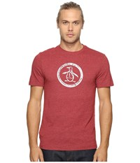 Original Penguin Triblend Distressed Circle Logo Tee Pomegranate Men's T Shirt Pink